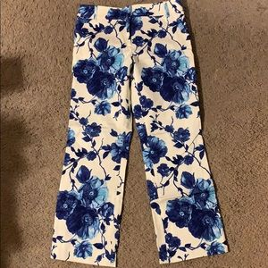 Tory Burch Cropped Floral Pants Size 2 NWT